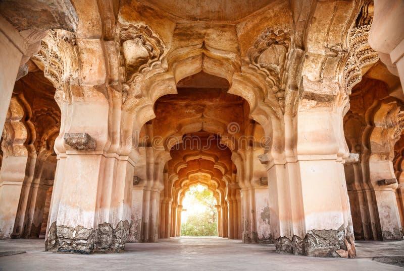 Lotus Mahal in Hampi stock photo