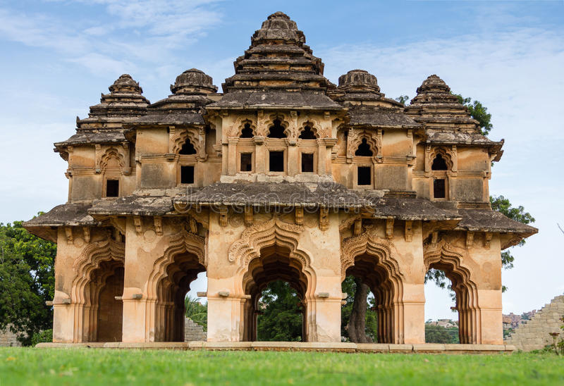 Lotus Mahal of Hampi Ruins stock photo