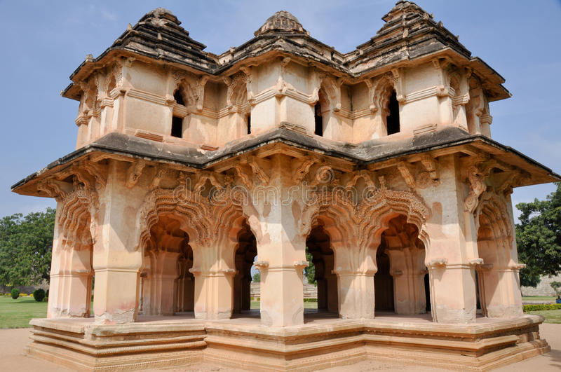Lotus mahal of Zanana, Hampi royalty free stock image