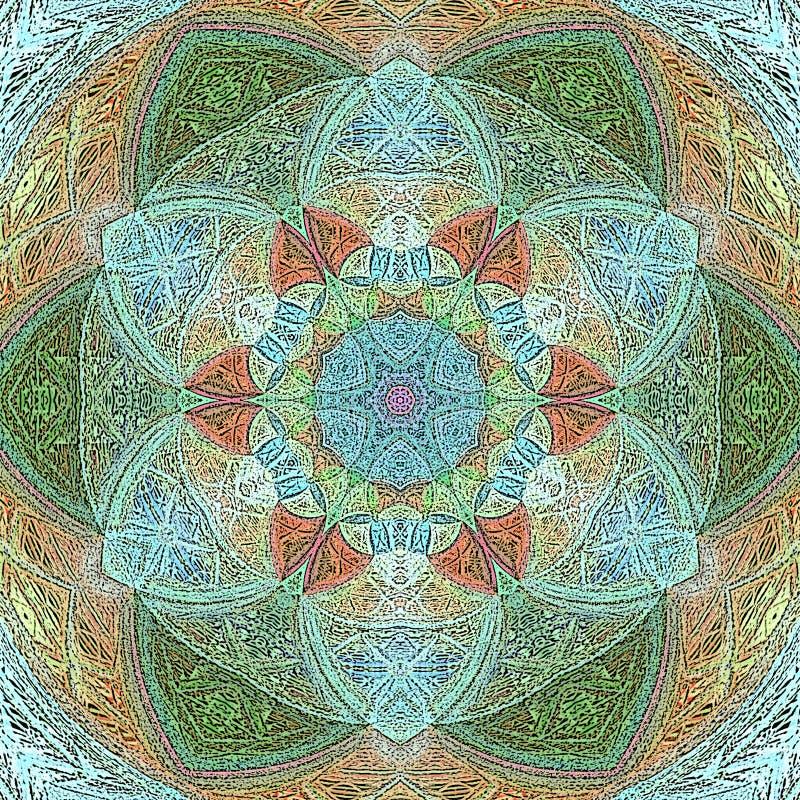 Lotus-mandala met Paisley royalty-vrije illustratie