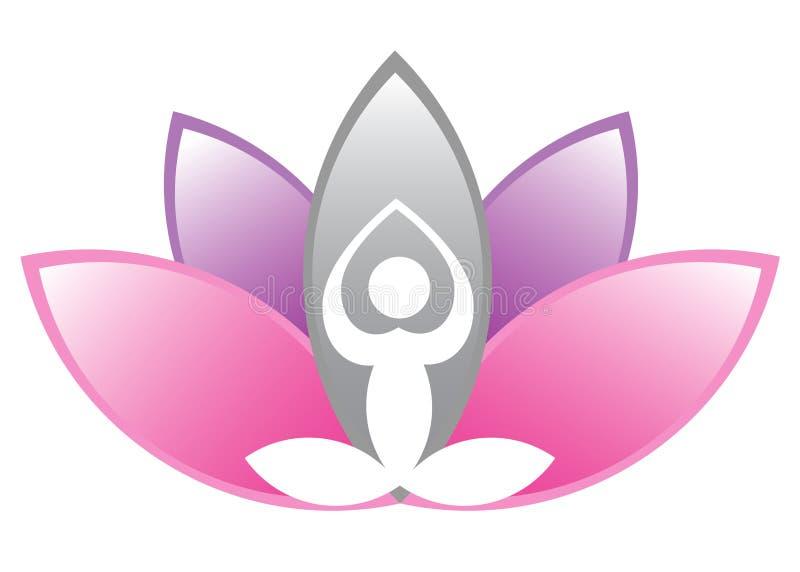 Lotus meditation. Illustration of lotus meditation design isolated on white background stock illustration