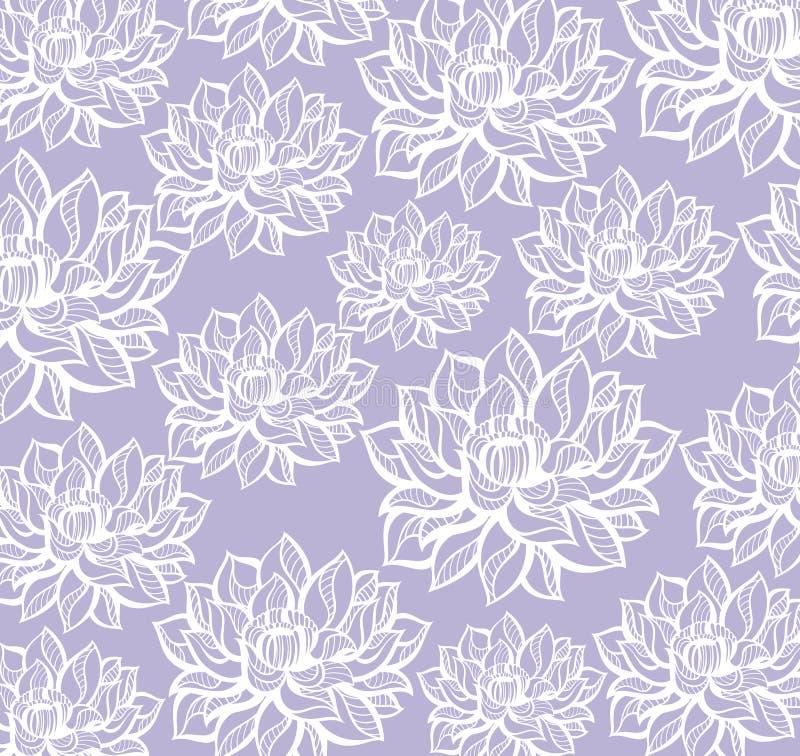 Lotus modellbakgrund royaltyfri illustrationer