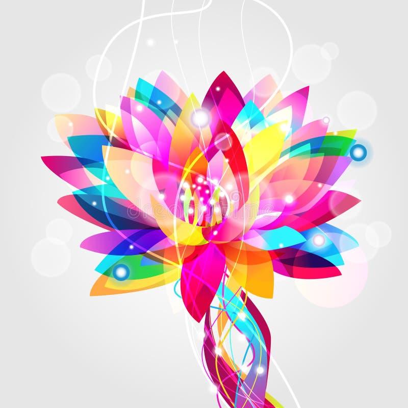Lotus multicolore illustration de vecteur