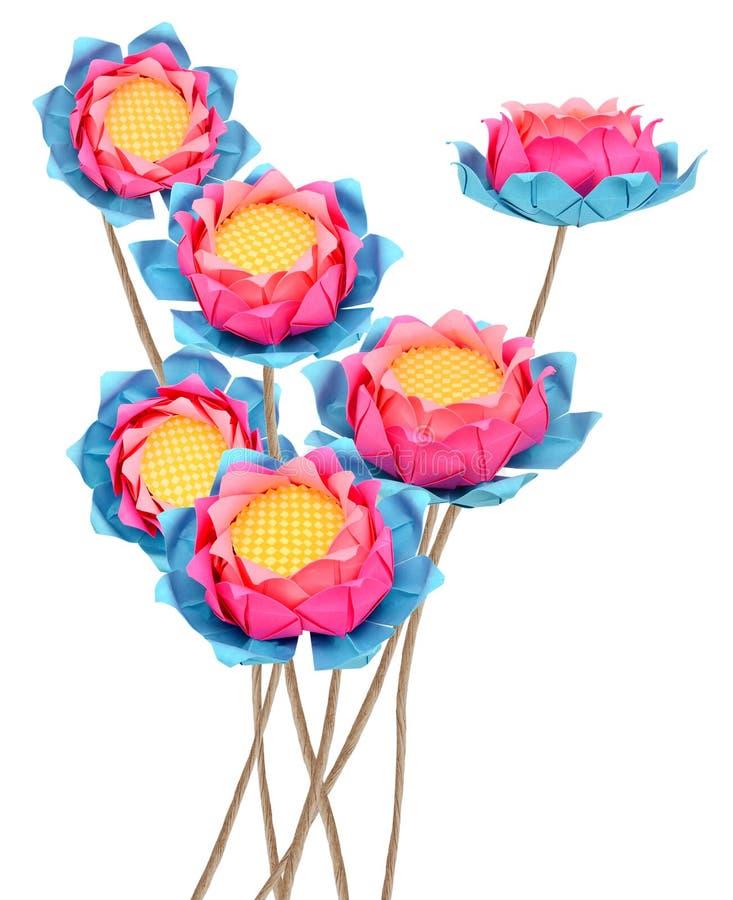 Lotus origami royaltyfria foton