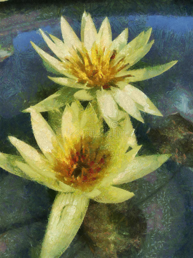 Lotus painting stock photography