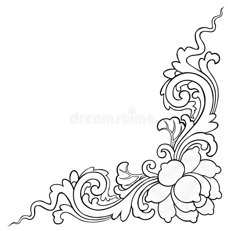 Lotus painting on white background stock images