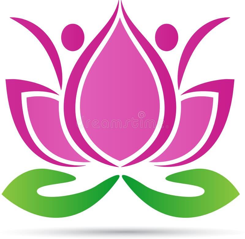 Lotus par vektor illustrationer