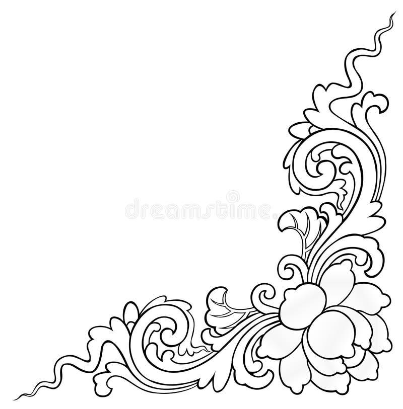 Lotus peignant sur le fond blanc images stock
