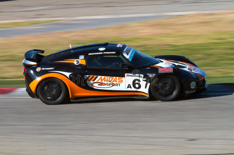 Lotus Production Car Racing royalty free stock photo