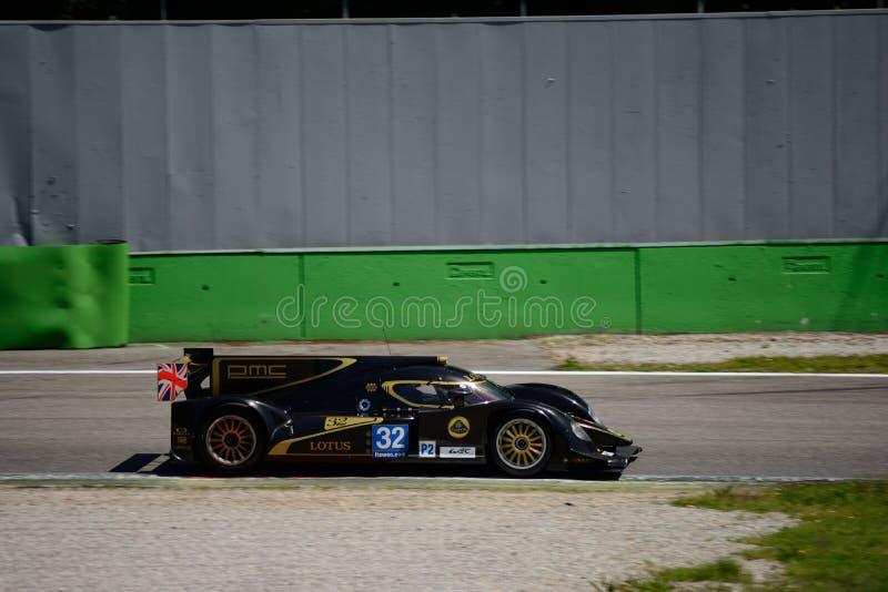 Lotus 2012/prueba del prototipo de Lola LMP2 en Monza fotografía de archivo libre de regalías