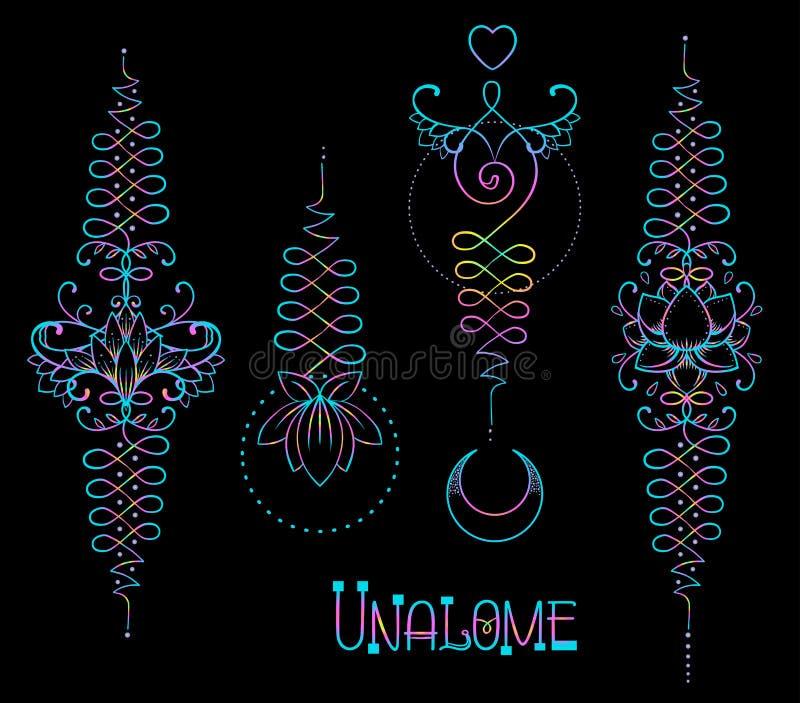 Lotus And Sacred Geometry Unamole Hindu Symbol Of Wisdom And Pa