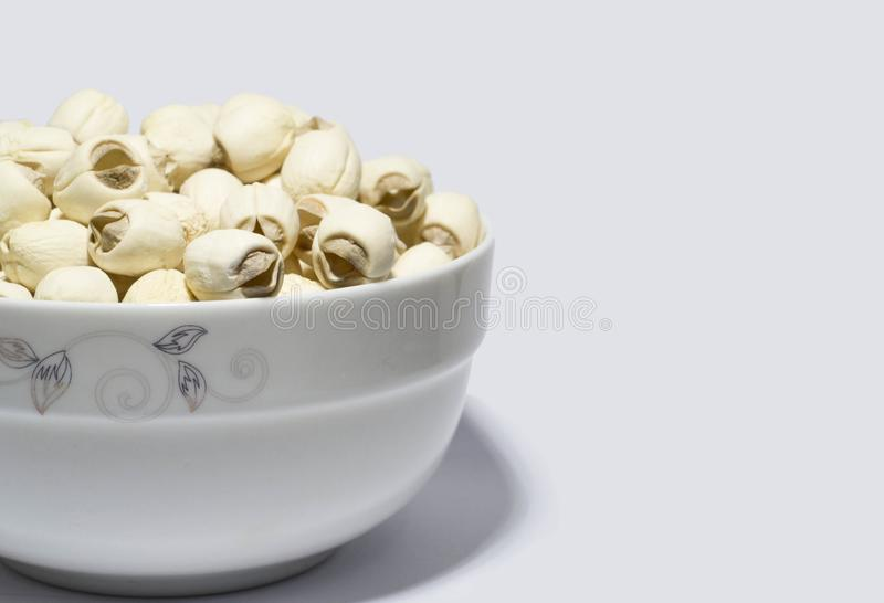 Chinese food lotus seed stock image