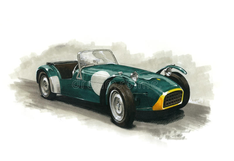 Lotus Seven royalty free stock images