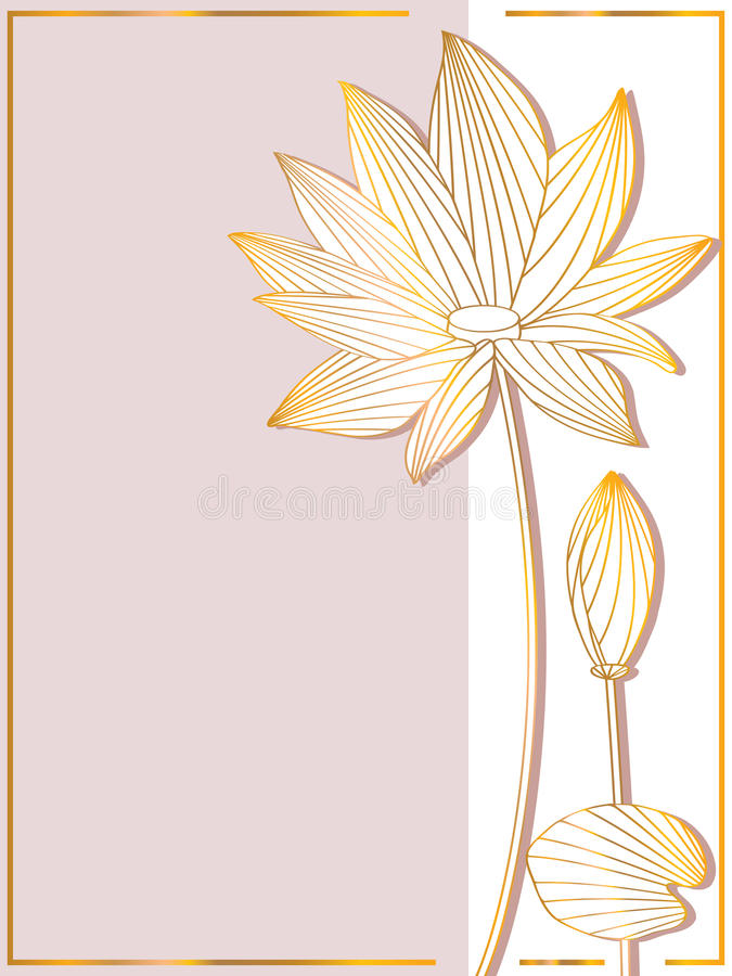 Lotus Side Card illustration libre de droits