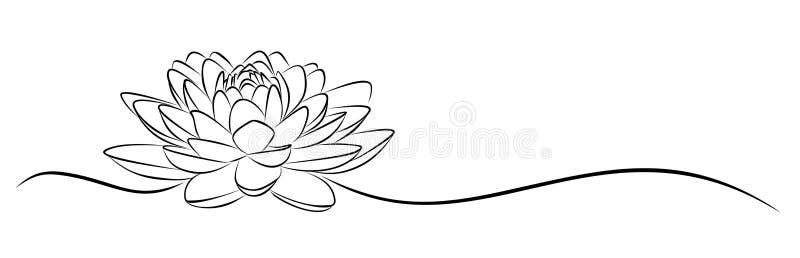 Lotus skissar royaltyfri illustrationer