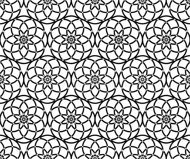 Seamless Repeat Pattern Lotus Sphere stock photos