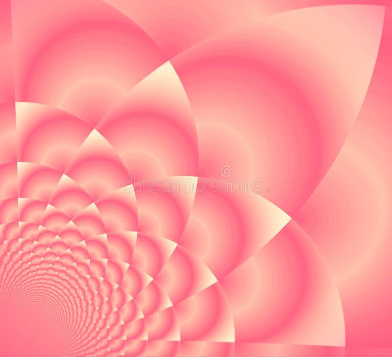 Lotus supremo rosado stock de ilustración