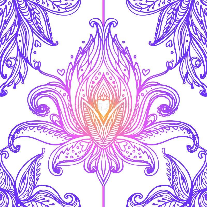 Lotus-symbool van de bloem het Heilige meetkunde met allen die oog over binnen zien vector illustratie