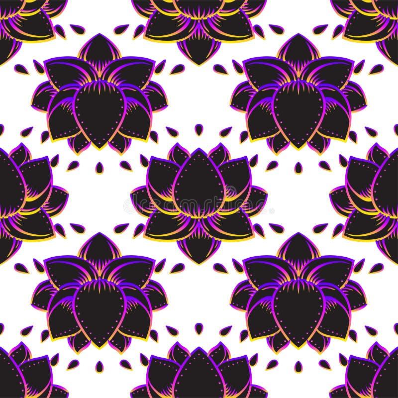 Lotus-symbool van de bloem het Heilige meetkunde met allen die oog over binnen zien royalty-vrije illustratie