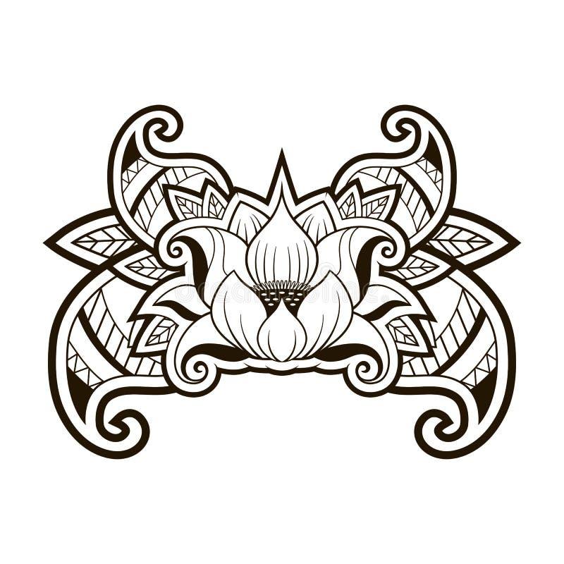 Lotus Tattoo royalty illustrazione gratis