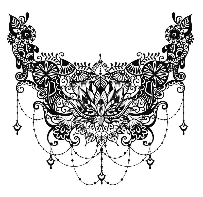 Lotus Tattoo illustration stock