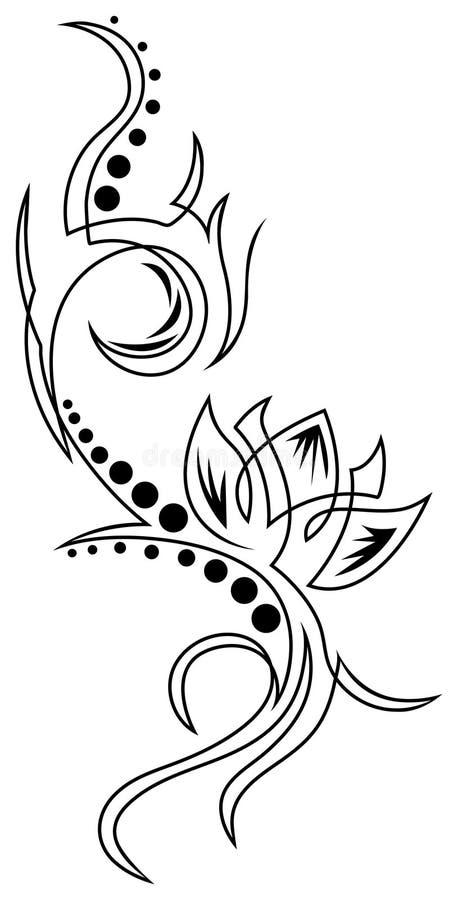Lotus tattoo vector illustration
