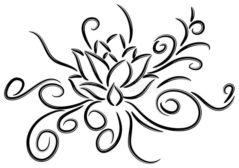 Lotus tattoo stock illustration
