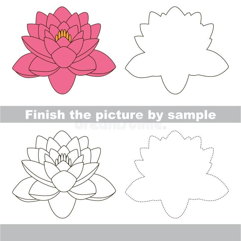 Lotus Teckningsarbetssedel royaltyfri illustrationer