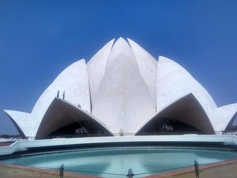 Lotus Temple immagine stock
