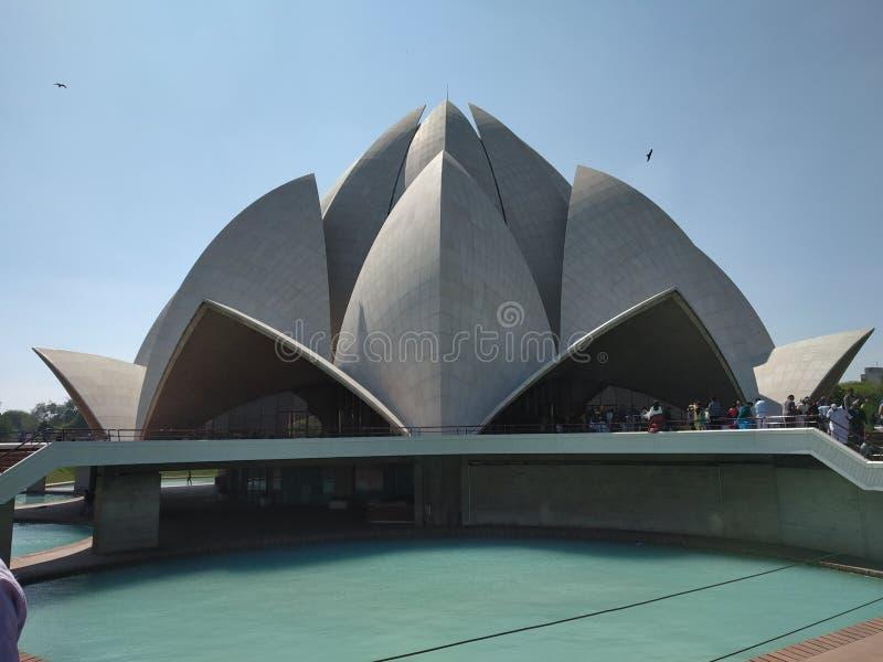 Lotus Temple fotografia de stock