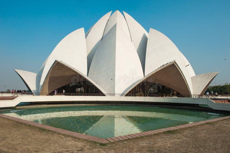 Lotus Temple - Deli - Índia imagens de stock royalty free