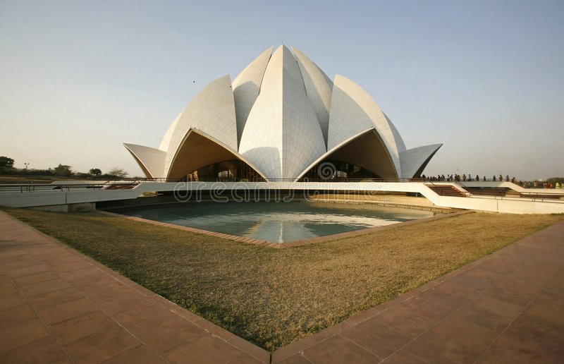 Download Lotus Temple In The Evening Light, Delhi Stock Photo - Image: 4159486