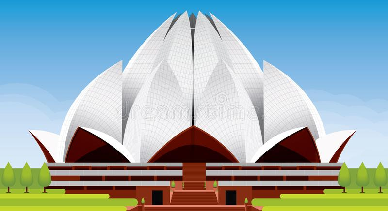 Lotus Temple Illustration images stock