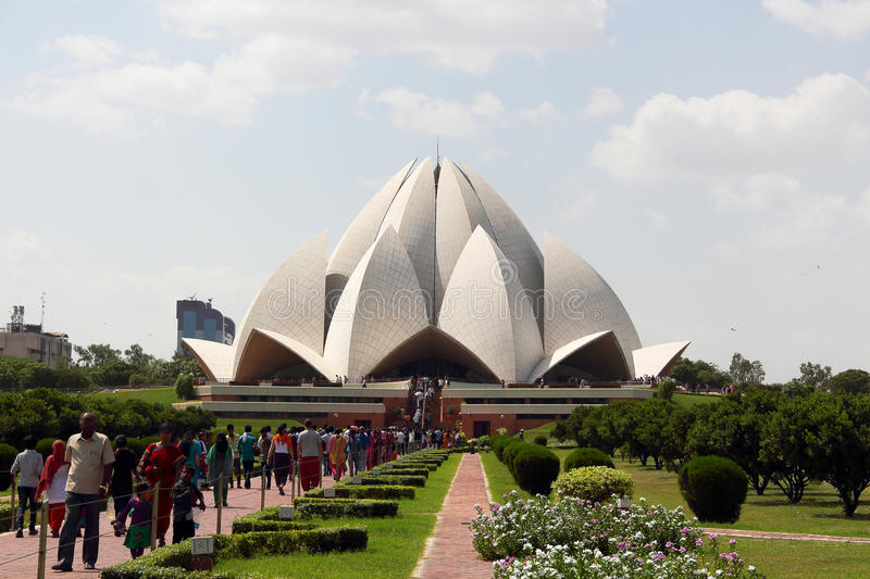 The lotus temple in India royalty free stock photo