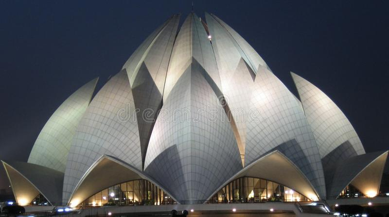 Lotus Temple. India . Night View royalty free stock images