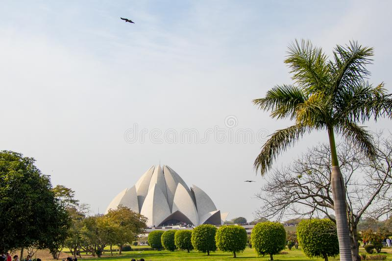 The Lotus Temple, located in New Delhi, India royalty free stock photos