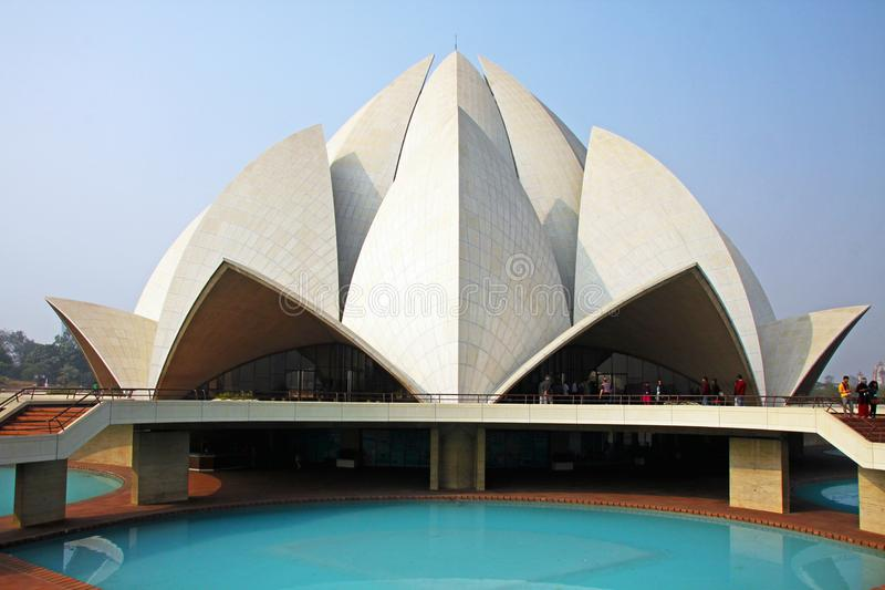 Lotus Temple, New Delhi, India, Bahai-Huis stock afbeeldingen