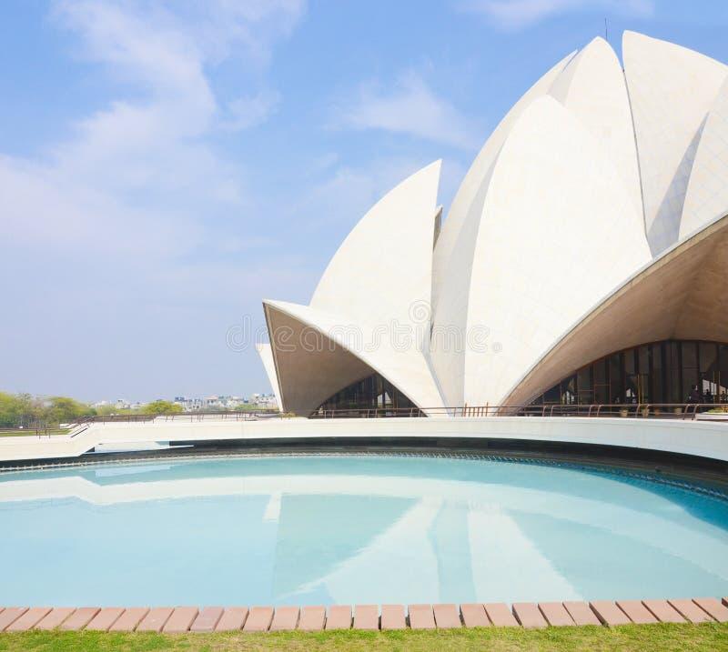 Lotus Temple, Nova Deli, ?ndia imagem de stock royalty free