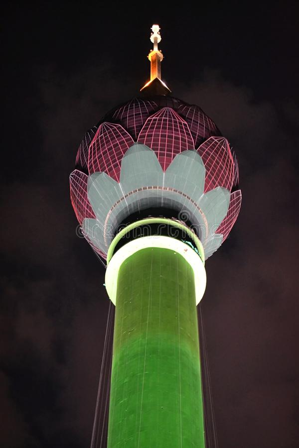 Lotus Tower in Colombo. The Lotus Tower නෙළුම් කුළුණ, is a 350m tall tower in the middle of Colombo stock images