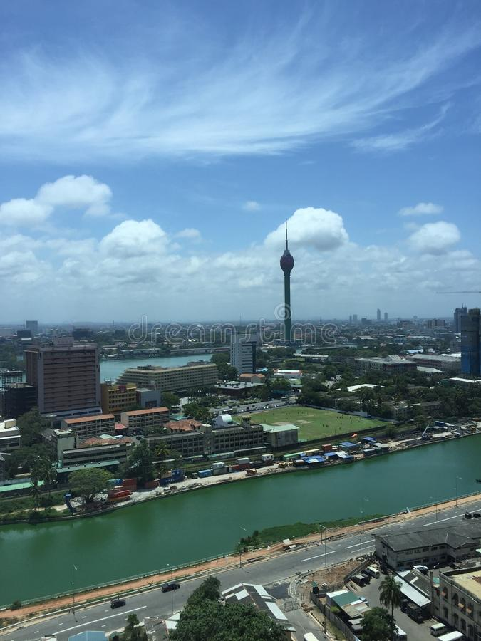 The Lotus Tower, Colombo Lotus Tower, colombo city. The Lotus Tower, also referred to as Colombo Lotus Tower, is a tower of 350 m or 1150 ft, located in Colombo royalty free stock photography