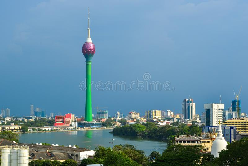 Lotus Tower in Colombo, Sri Lanka. Colombo, Sri Lanka - Dec 23, 2018. Lotus Tower in Colombo, Sri Lanka. Colombo is the financial centre of the island and a stock photos