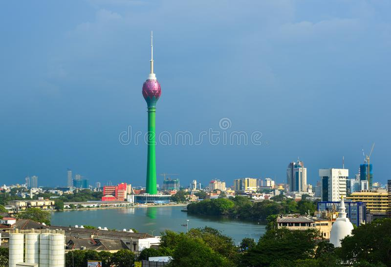Lotus Tower in Colombo, Sri Lanka. Colombo, Sri Lanka - Dec 23, 2018. Lotus Tower in Colombo, Sri Lanka. Colombo is the financial centre of the island and a stock photography
