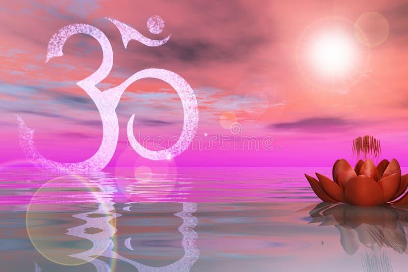 Lotus On The Water sainte illustration de vecteur