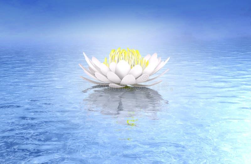 Lotus-waterlelie ideale zuivere achtergrond stock illustratie