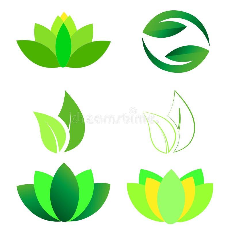 Lotus Ying Yang Leaves Logo ilustração royalty free