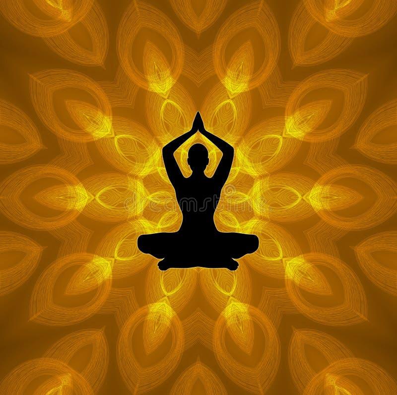 Lotus Yoga ilustração stock