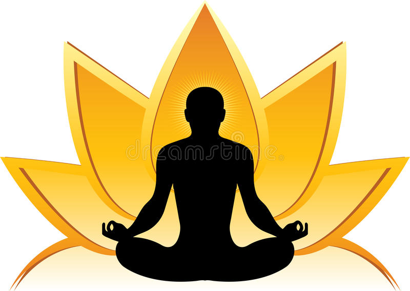 Lotus yoga logo stock illustration