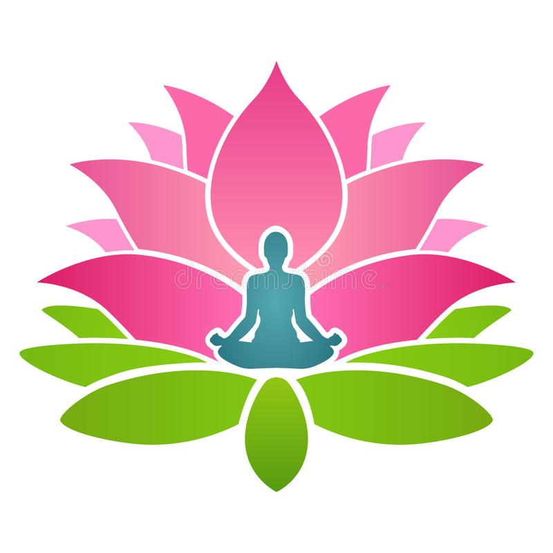 Lotus Yoga Training School royaltyfri illustrationer