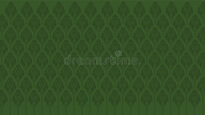Lotus zieleni igły Na zielonym tle ilustracji