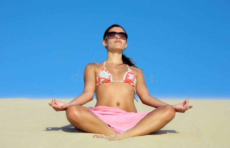 Lotusblomma på sanddynen fotografering för bildbyråer